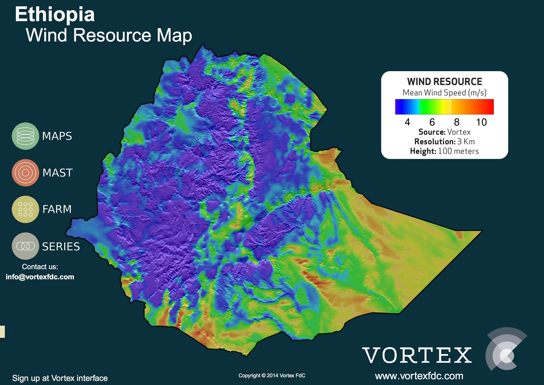 ETHIOPIA WIND MAP - VORTEX