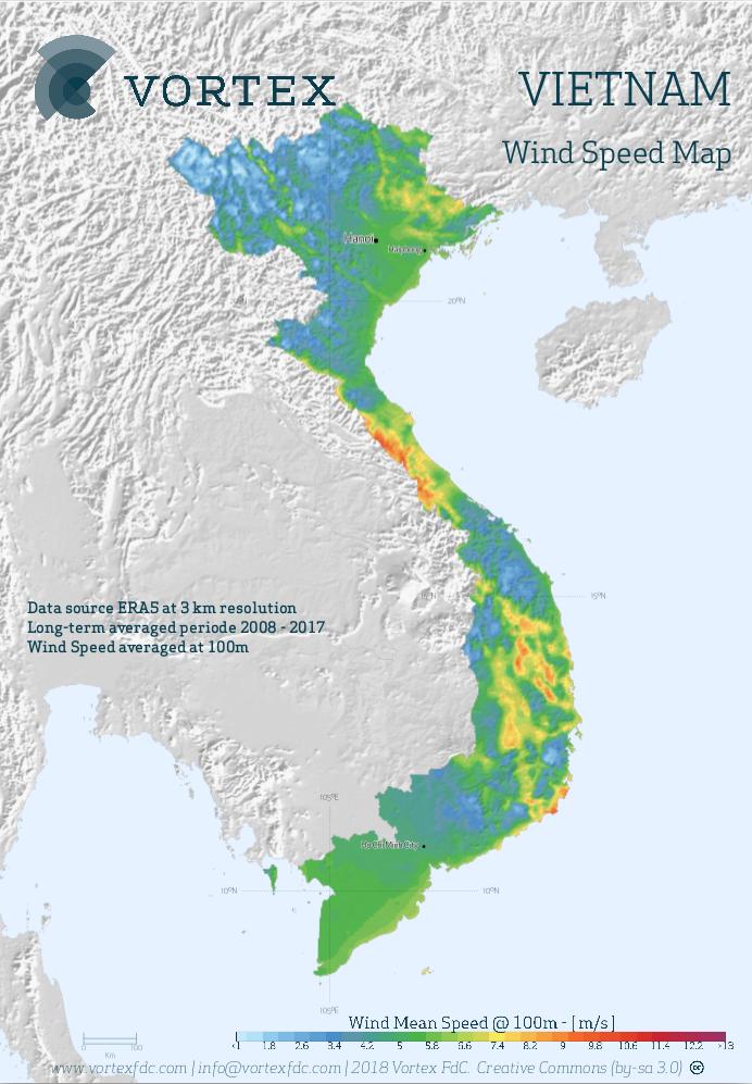 VIETNAM WIND MAP - VORTEX
