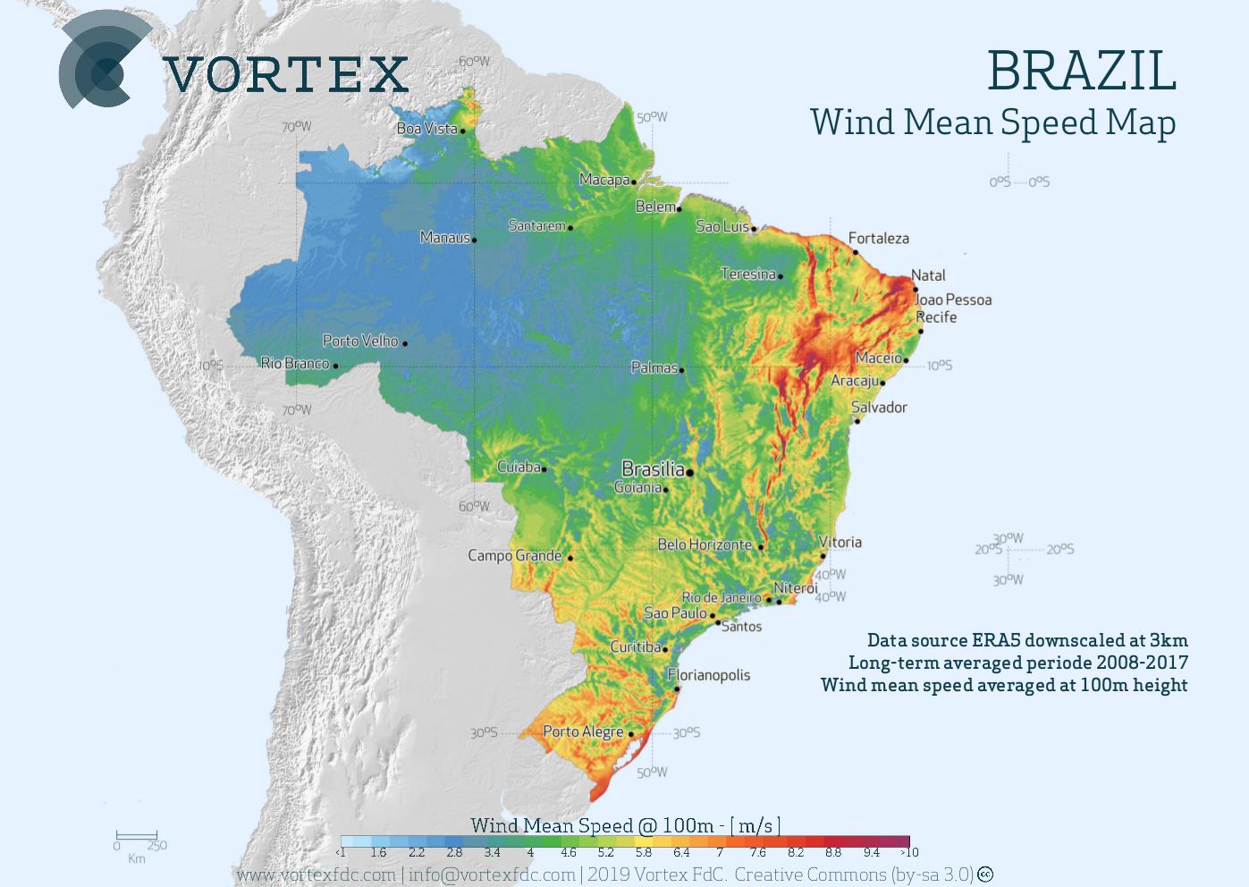 Picture of: Wind Map Brazil Vortex